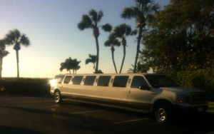 sunset-limo-Bahamas-beach
